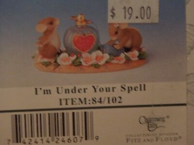"Charming Tails ~ ""I'm Under Your Spell"" 84/102 ~  FITZ & FLOYD  MNB"