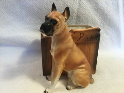 Boxer Dog Ceramic Planter 'Pal'