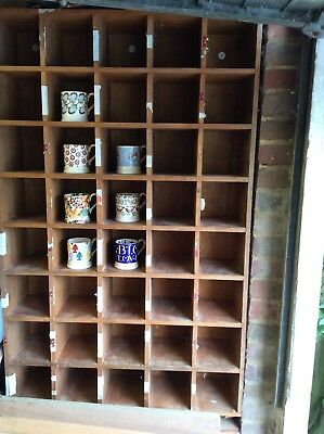 Pigeon Holes Storage Unit Solid Wood