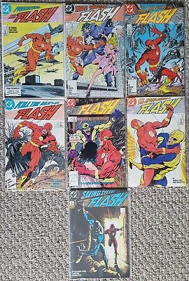 DC The FLASH (1987) #1 2 3 4 5 6 16 1st Wally West as Flash Series!