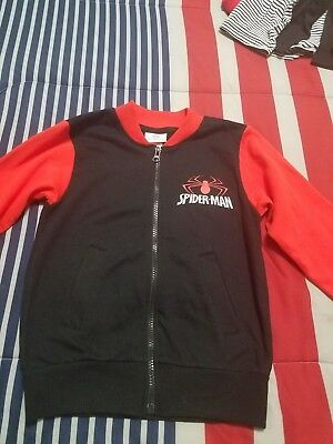 Spaiderman Sweter Red and Black  Boys Size 6