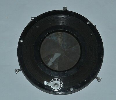 Very rare Gitzo Paris open or closed front mounted shutter (no timer)