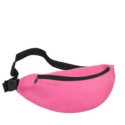 Fanny Pack Travel Pink Waist Bag 80's Style Bum Bag Pouch Unisex