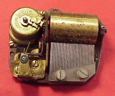 Vintage Reuge Music Box Movement 30mm 30 NOTE PLAYS MAGIC FLUTE fromA LECOULTRE