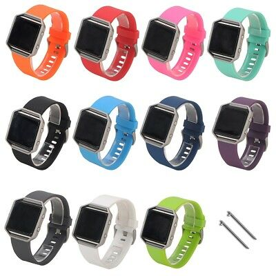 Watch Band For Fitbit Blaze Wrist TPE Replacement Strap Soft Silicone 11 Color