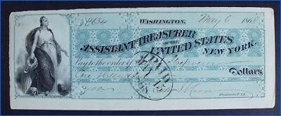 Vintage 1868 Assistant Treasurer Of The United States, New York Banknote