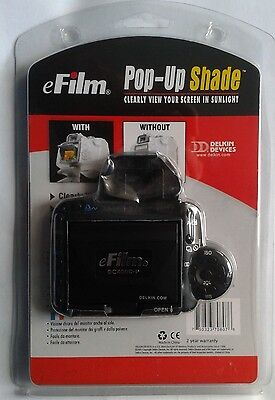 CANON EOS 400D DELKIN eFILM  POP UP SHADE FOR 400D/REBEL Xti IN RETAIL PACKAGING