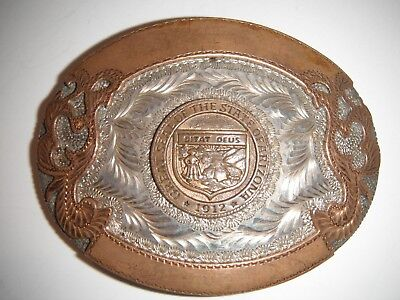 Great Seal of the State of Arizona Brass Belt Buckle