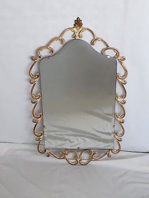 Peerart Old Vintage French Style Scroll Metal Frame Wall Mirror