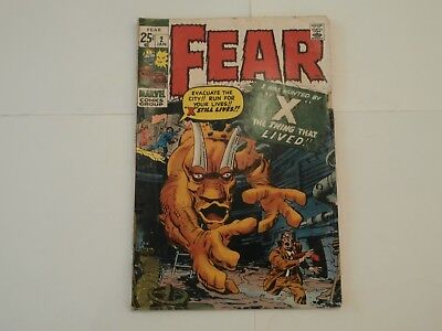 *AR*  Marvel Horror Comic Fear #2 Jan 1971 Anthology Kirby Ditko Monsters!