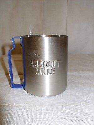 Absolut Vodka - Promo Branded Stainless Steel Barware Mule Mug - NOS