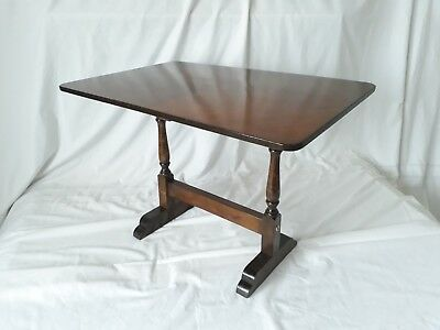 Old Wooden Folding Tilt Top Side / Occasional Table with Turned Legs