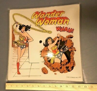 PRIZED Vintage PERFECT Wonder Woman 1978 Glass Light Fixture - EXTREMELY RARE