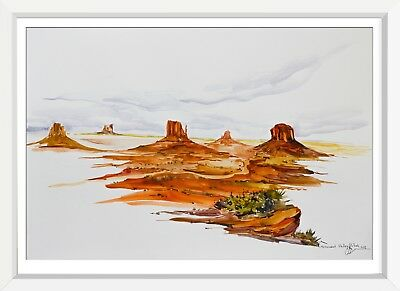 originale zeichnung A3 91SE aquarell drawing kunst art monument valley vtah