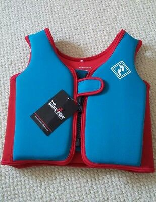 Two Bare Feet - Float Vest Swim Aid - 3-4 years - Blue / Red