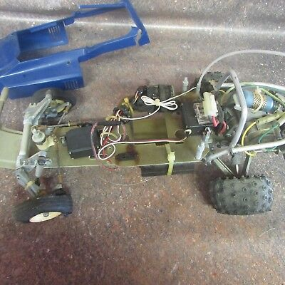 Vintage RC Unknown Remote Control Electric Buggy Car Truck with body (M4)