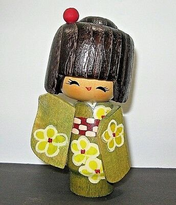 Vintage Japanese Wooden Kokeshi Doll - FROM ESTATE SALE