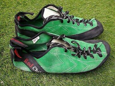 Red Chili Durango Climbing Shoes   UK size 9.5   Green   Excellent Condition