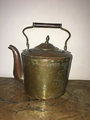 Antique Copper And Brass Kettle