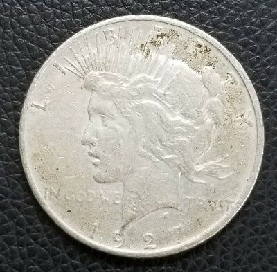 1927-D US Silver Peace Dollar - US Coins [SC166]