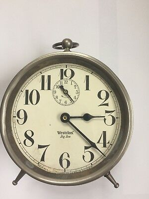 Antique BIG BEN Alarm Clock - Working Condition Nice Movement - Sold AS IS