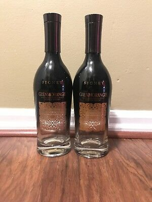 Empty Glenmorangie Signet Single Malt Bottles - Lot of 2 - 750 ml