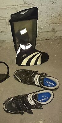 Shimano MD86 SPD-Klick-Schuhe Gr. 48 inkl. Adidas-Raincover