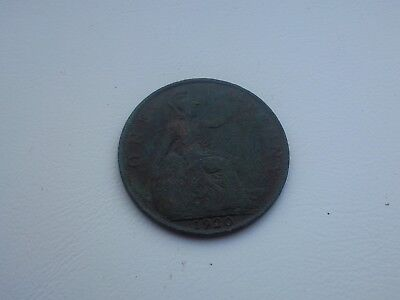 Metal Detecting Find Old George V One Penny Coin 1920 FREE POSTAGE
