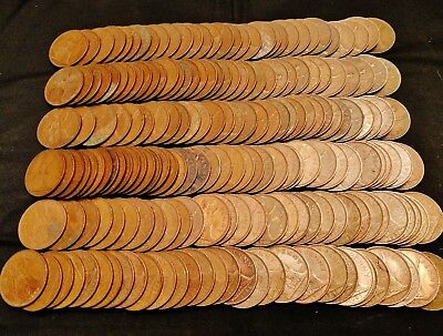 Huge Lot of 192 Great Britain Pennies, 1930s to 1960s - Great Mix