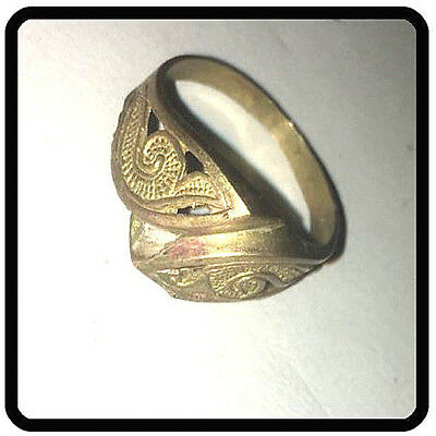 Extremely Ancient VIKING BRONZE Ring museum quality artifact VERY Stunning