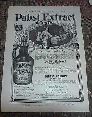 1907 PABST EXTRACT & SHREDDED WHEAT ADS - Back to Back