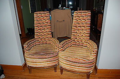 Strange Pair Adrian Pearsall Style Velvet High Back Lounge Chairs Camellatalisay Diy Chair Ideas Camellatalisaycom