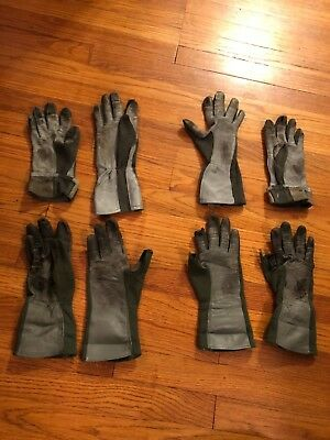 LOT of USAF PILOT GLOVES Leather NOMEX AIR FORCE