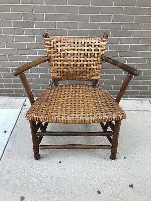 Old Hickory Furniture Lounge Arm Chair Rustic Modern 1950s Cabin Lodge Decor