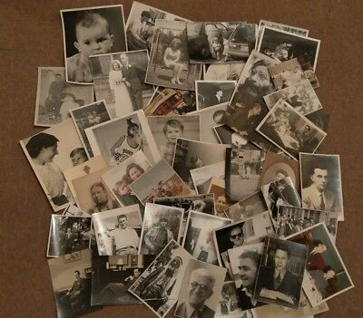Job Lot Bulk Collection 60 Vintage Old Photos People Fashion Clothing Random