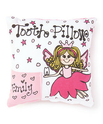 Personalized Pink Petal Fairy Blonde Tooth Fairy Pillow