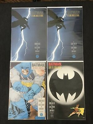 Batman The Dark Knight Returns Two Copies 1 First Print, 2 3rd And 3 DC Miller