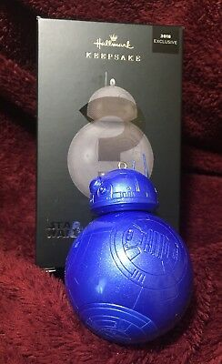 BLUE BB-8 Mystery Pop Minded Hallmark 2018 Exclusive STAR WARS Ornament Boxed