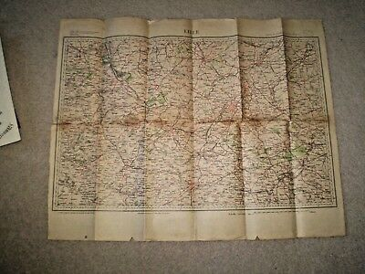 Map of the Lille Region of France - St Omer, Arras etc 1910s 1 to 200,000