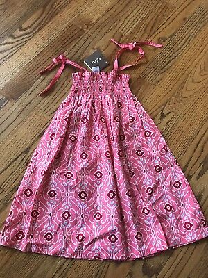 NWT Tea Collection Girls Jameerah Smocked Sleeveless Tie Shoulder Sundress Sz 2T