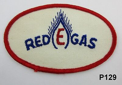 Vintage Red E Gas Motor Oil Gasoline Patch, Gas & Oil Patch P129