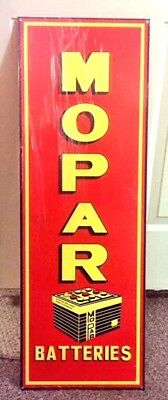 Great MOPAR Batteries Sign, Great Graphics, Color and Shine. Heavy.