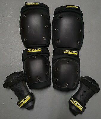 Skateboarding Goliath Protective Knee Elbow wrist Pads Size M EXCELLENT Near New