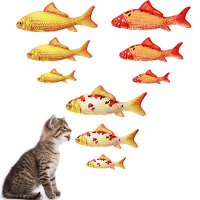 Lovely Cat Toys Simulation Fish Plush Pet Pillow Catnip Toys Chew Bite Cat Toy