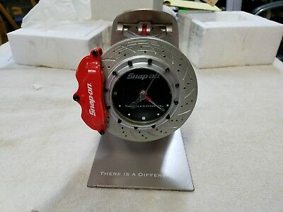 Snap On Tools Collectable Disc Brake Rotor Desk Clock