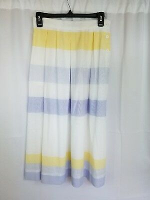 "Vintage Counterparts Multi-Color Striped 31"" A-Line Style Skirt Sz 12 #e110"