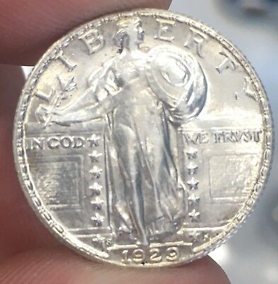 1929-S Standing Liberty Quarter Very High AU with a full head