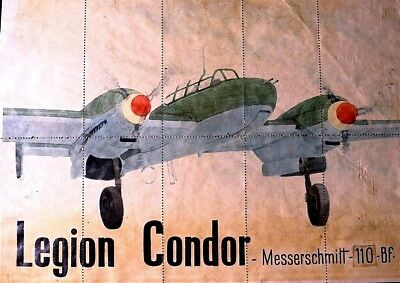 Messerschmit 110 - Legion Condor 1942 Ww 2 + Food Tickets Back -Original Scarce