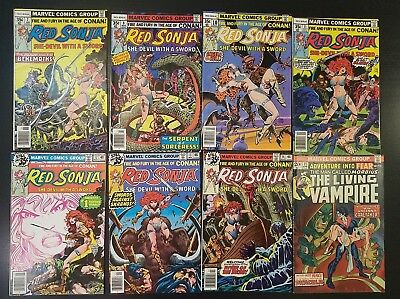 VINTAGE BRONZE AGE Lot 50 Comics!  Red Sonja, HULK, Machine Man, NOVA, Dracula
