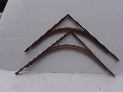 PAIR of Large Steel  Original Antique Shelf Brackets , patina industrial look
